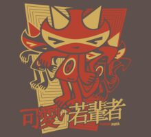 Demon Mascot Stencil One Piece - Short Sleeve