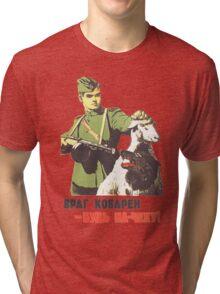 WW2 Soviet Poster Tri-blend T-Shirt