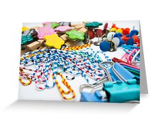 Colourful Office Tools Greeting Card