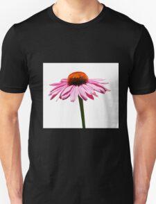 Echinacea Purpurea on White Background Unisex T-Shirt