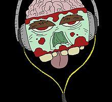 zombie music 4 print... by kangarookid