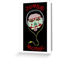 zombie music 4 print... Greeting Card