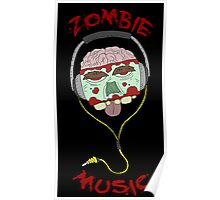 zombie music 4 print... Poster