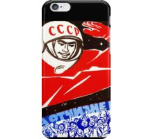Soviet Space Poster iPhone Case/Skin