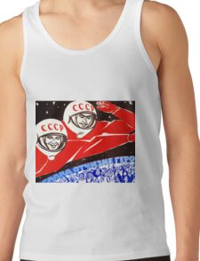 Soviet Space Poster Tank Top