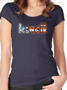 KawaiiPunk Kawaii USA Logo Women's Fitted Scoop T-Shirt