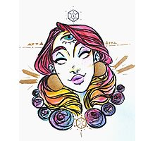 third eye princess watercolor Photographic Print