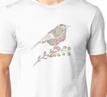 Watercolor Cherry Blossoms on Grey Wash Unisex T-Shirt