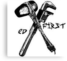 ED first - EV Tattoo Mashup Canvas Print