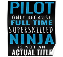 PILOT ONLY BECAUSE FULL TIME SUPERSKILLED NINJA IS NOT AN ACTUAL TITLE Poster