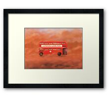 Routemaster Riot - London Bus - London I love you (108) Framed Print