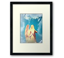 An Angel Thinking of You Framed Print