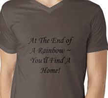 """Family"" Rainbow Mens V-Neck T-Shirt"