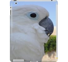 Side Portrait Of A Blue-Eyed Cockatoo iPad Case/Skin
