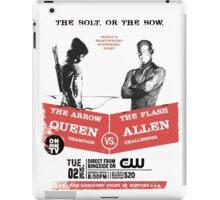 Arrow vs Flash TV shows iPad Case/Skin