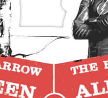 Arrow vs Flash TV shows Sticker