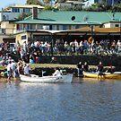 Boat Race at Harrington Pub by Graham Mewburn
