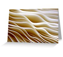 Creamy Waves Greeting Card