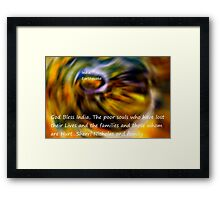 God bless the people In India's Earthquake Framed Print