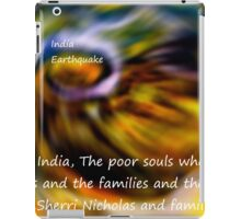 God bless the people In India's Earthquake iPad Case/Skin