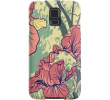 SeaSeamless pattern with decorative  iris flower in retro colors. mless pattern with decorative  iris flower in retro colors.  Samsung Galaxy Case/Skin