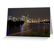 Brisbane CBD from Kangaroo Point 1 Greeting Card