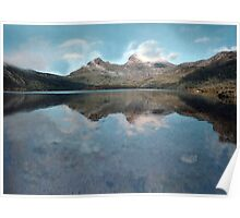 Blue Day at Cradle Mountain Poster