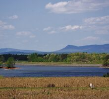 Hanging Rock State Park and Sauratown Mountain from Belews Lake  by paulboggs