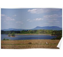 Hanging Rock State Park and Sauratown Mountain from Belews Lake  Poster