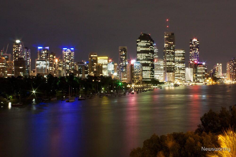 Brisbane CBD from Kangaroo Point 2 by Newsworthy