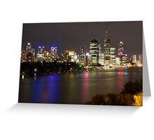 Brisbane CBD from Kangaroo Point 2 Greeting Card