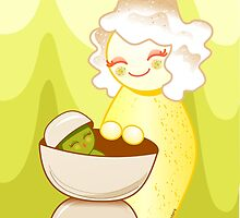 Kokeshis Sweet mother and Little Pistachio by Pendientera