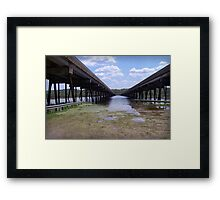 The Marsh Bridge Framed Print