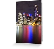 Brisbane CBD from Kangaroo Point 5 Greeting Card