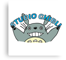 My Neighbour Totoro cute illustration with type Canvas Print