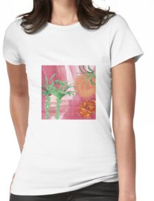 Tropical Sunset Womens Fitted T-Shirt