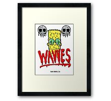 "WAVVES ""Drippy"" Design Framed Print"
