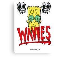 "WAVVES ""Drippy"" Design Canvas Print"