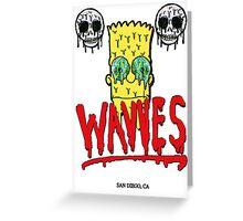 "WAVVES ""Drippy"" Design Greeting Card"