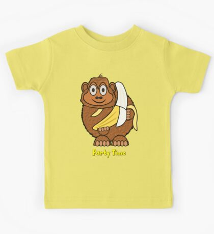Party Time Chimp and Banana design Kids Tee