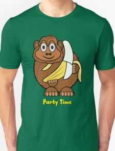 Party Time Chimp and Banana design Unisex T-Shirt