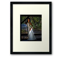 Lady in the woods Framed Print