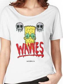 """WAVVES """"Drippy"""" Design Women's Relaxed Fit T-Shirt"""