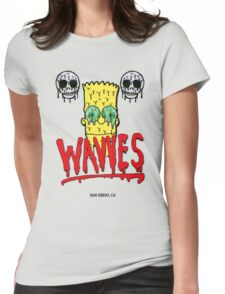 "WAVVES ""Drippy"" Design Womens Fitted T-Shirt"