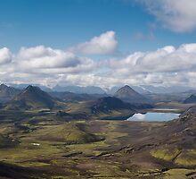 Iceland - Panorama over Alftavatn lake  by thonycity