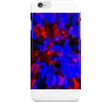 sd Abstract blue red 1C iPhone Case/Skin
