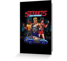 Streets of Rage Greeting Card