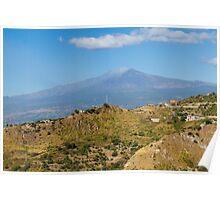 Etna volcano Poster