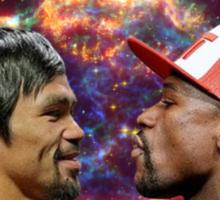 Floyd Mayweather VS Manny Pacquiao Sticker