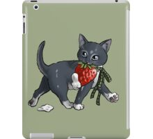 Strawberries and Cream Thief Kitten Tea Party iPad Case/Skin